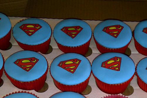 Superman cake topper