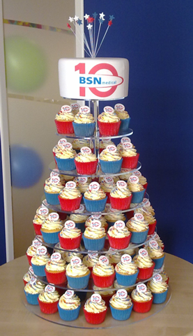Cupcake tower icing prints